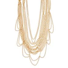 gold necklace chunky chain images Gold tone multi strand chunky chain necklace claire 39 s jpg