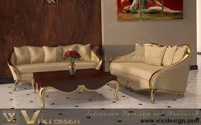 living room furniture manufacturers luxury sofa set classic modern gold leaf vixi design furniture
