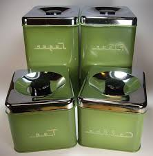 retro kitchen canisters set green depression glass canister set vintage canisters sugar flour