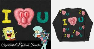 spongebob tear sweater squidward s eyelash sweater by creepycutie on threadless