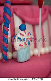 fancy birthday cake candyland theme three stock photo 399459901