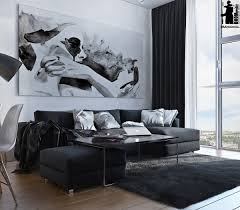 Modern Living Room Colour Schemes Monochromatic Living Room Colors Idea Combined With Wooden Element