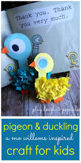 how to create fun kids craft inspired by mo willems mo willems