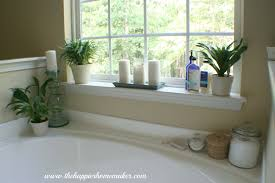 Decorating Ideas For Bathrooms Decorating Around A Bathtub The Happier Homemaker