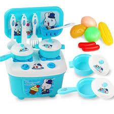 plastique cuisine 16pcs enfants plastique cuisine table à manger cuisine début jouet