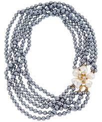 glass pearl necklace images Kenneth jay lane kenneth jay lane gold electroplated glass pearl