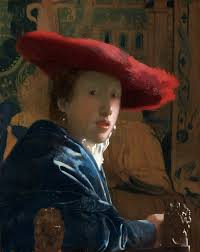 vermeer pearl necklace girl with a hat