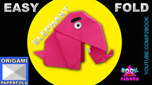 easy origami elephant folding paper craft instructions f2book