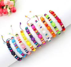 handmade flower bracelet images Friendship bracelet handmade flower beads woven rope string hippy jpg