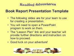 book report powerpoint template free education powerpoint