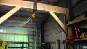 blacksmith shop floor plans the gantry hoist youtube