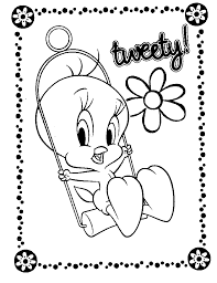 amazingly beautiful and cute tweety coloring pages coloringpagehub