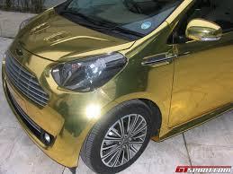 golden super cars golden aston martin cygnet photo and video car collection
