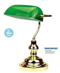 desktop table touch lamps vintage globe bankers light brass lamp