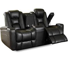 octane mega multi function reclining loveseat in black bonded leather