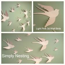 Christmas Ornaments On Sale Free Shipping Holiday Sale Free Shipping Us 20 3d Paper Wall Birds Nursery