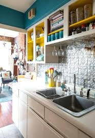 kitchen design ideas white cabinet blue wall paint color for small
