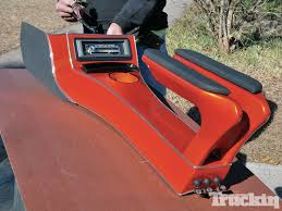 el camino orange homebrew high tech handbuilt stereo system truckin magazine