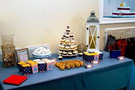 Nautical Theme Babyshower - nautical themed boy baby shower spaceships and laser beams