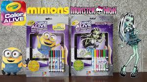 crayola colour alive minions monster color alive