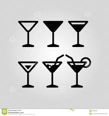 martini vector cocktail glass icon set suitable for info graphics websites and