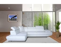 canapé simili cuir blanc pas cher canapé cuir ub design chiara angle gauche blanc pas cher ubaldi com