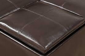 simpli home avalon coffee table storage ottoman w 4 serving trays