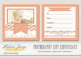 photography gift certificate photoshop 5x5 card by tiramisudesign