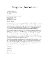 Resume Applications Letter Application Letter Resume