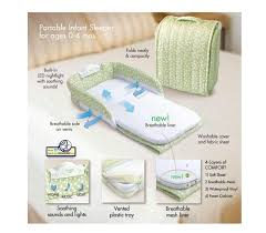 Baby Folding Bed Have Music Night Light On A Small Bed In Bed Folding Baby Cradle