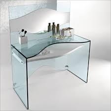 Glass Desk Table Elegant Transparent Glass Desk Strata By Tonelli Digsdigs