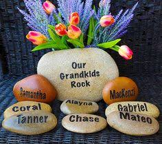 decorative stones garden stones my grandkids rock name rocks