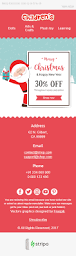 merry christmas email template kind santa claus for children