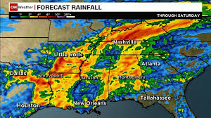 New Orleans Flood Map by Cindy Weakens Into Tropical Depression After Making Landfall In