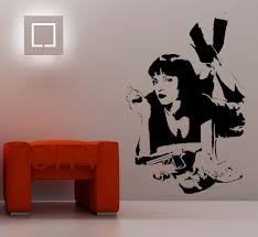 online get cheap wall murals for teens rooms aliexpress com mia wallace wall sticker quentin tarantino film pulp fiction vinyl decal dorm bar teen room home interior art decor mural