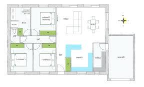 plan de maison de plain pied avec 3 chambres plan maison plain pied 4 chambres gratuit de avec garage avis sur