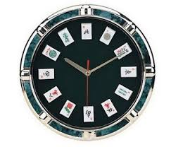 theme clock 11 theme mah jong wall clock with mah jong tile markers new