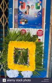 a frame made of flowers used for khmer new year buddhist offerings