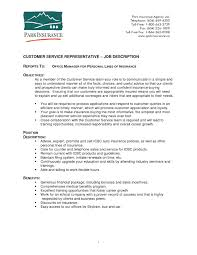 Sample Resume For Insurance Agent Responsibilities Of Customer Service Representative How To Write