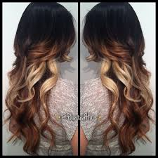 hair styles brown on botton and blond on top pictures of it love this dark on top then auburn and then blonde on the bottom