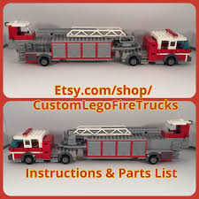 truck instructions custom hook ladder tiller tda fire truck instructions