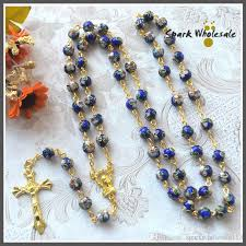 catholic rosary online catholic gold rosary blue cloisonne bead rosary necklace