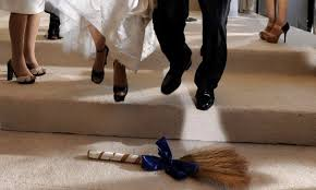 jumping the broom wedding white jumping the broom hellobeautiful
