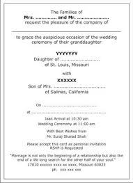 marriage invitation wording india outstanding indian wedding card invitation wordings 20 with
