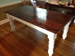 customer u0027s first farm table using osborne dining table legs