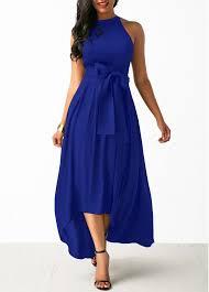 blue dresses animal prints blue composite filament dresses for women online