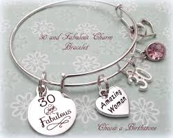 best birthday gifts for 30th birthday gift 30 and fabulous charm bracelet birthday gift
