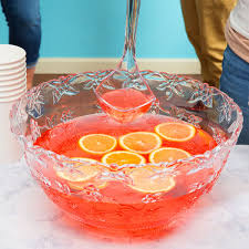 punch bowl platter pleasers 3512 10 qt clear plastic punch bowl