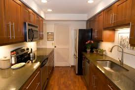 Galley Kitchen Makeovers - galley kitchen makeovers mixed with traditional and modern decorations