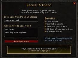 battlenet prepaid card basic guide to recruit a friend setup and use guides wowhead